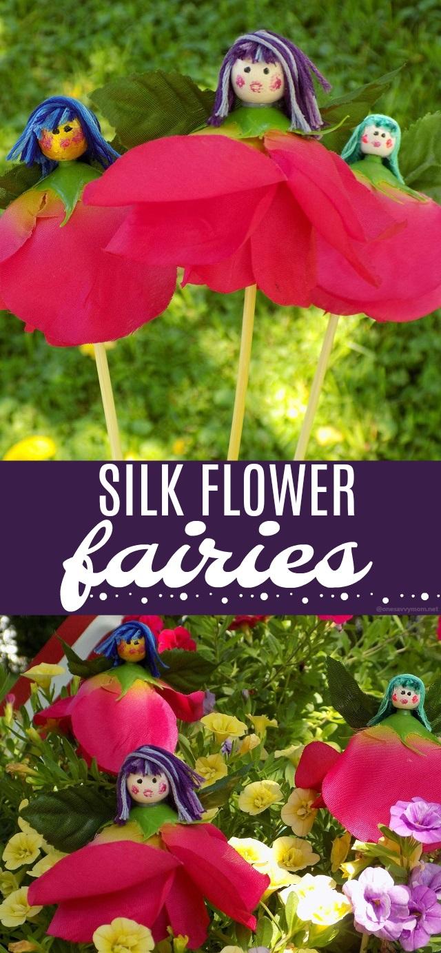 One savvy mom nyc area mom blog silk flower fairies a super silk flower fairies a super cute simple fairy garden kids craft mightylinksfo