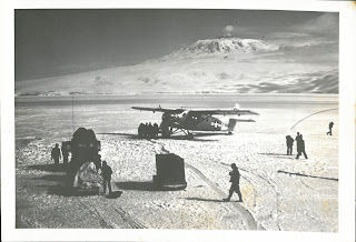 Image of one of the first planes to be flown in 1955