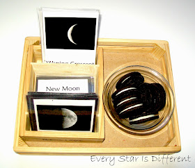 Moon phases with Oreos.