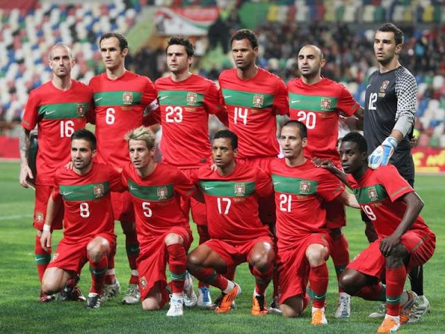 Formación de Portugal ante Chile, amistoso disputado el 26 de marzo de 2011