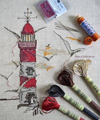 Soizic — Le phare aux mouettes. маяк Суазик, вышивка крестом