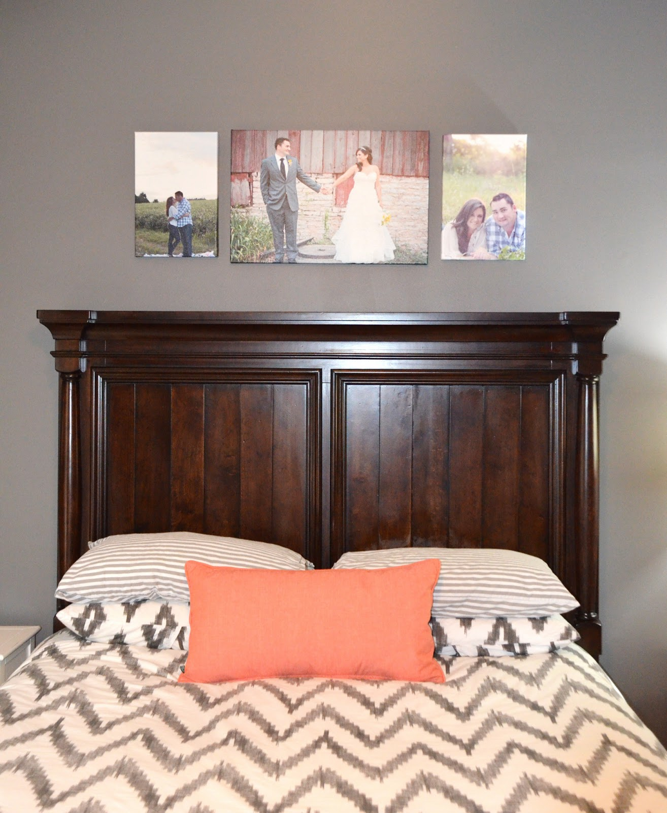 Coral Bedroom Accessories Uk Bedroom Wallpaper Black Carpet For Master Bedroom Bedroom Ideas Lilac: {Jessica Stout Design}: Coral + Gray Master Bedroom {My Home}