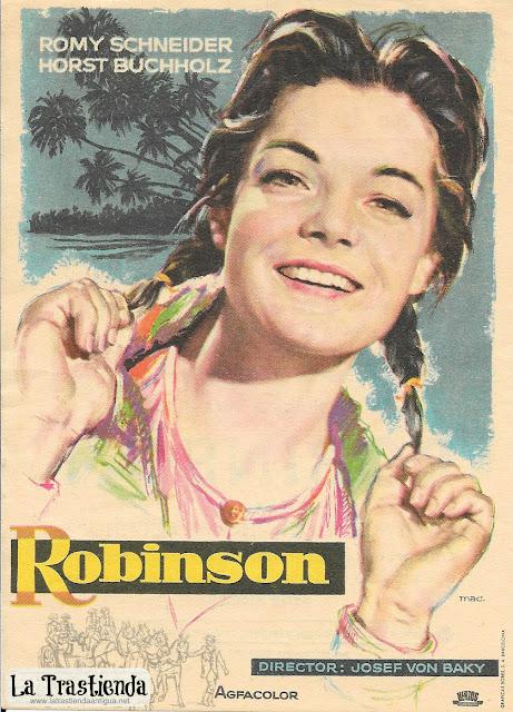 Robinson - Programa de Cine - Romy Schneider - Horst Buchholz