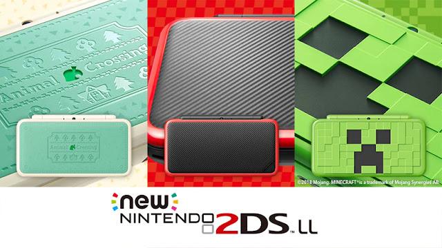 Se presentan diseños de Nintendo 2DS XL de Minecraft y Animal Crossing