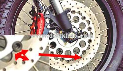 fungsi lubang pada disk brake