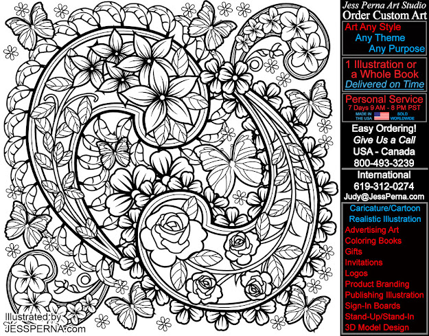 Paisley Coloring Book Page Illustration Freelance Artist