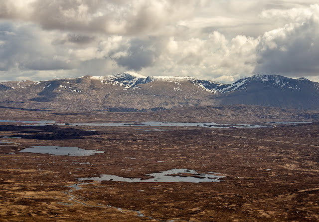 Photo of the view across Rannoch Moor from Meall Bhalach