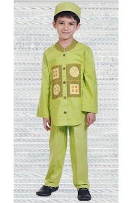 Baju muslim anak laki laki rabbani