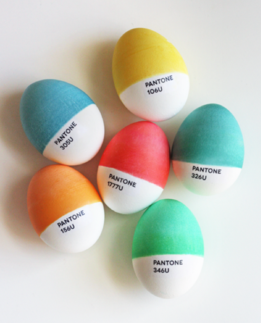 Pantone Easter eggs ffffound - UK lifestyle blog