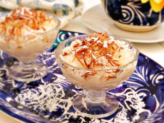 Piña Colada Rice Pudding - lacocinadeleslie.com