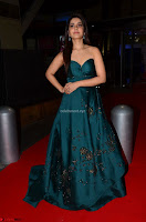 Raashi Khanna in Dark Green Sleeveless Strapless Deep neck Gown at 64th Jio Filmfare Awards South ~  Exclusive 049.JPG