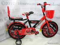 1 Sepeda Anak Red Fox 16-1108-9 Cap Sedan 16 Inci