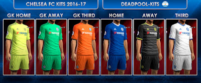 PES 2013 Chelsea FC Kits 2016-17 by DEADPOOL