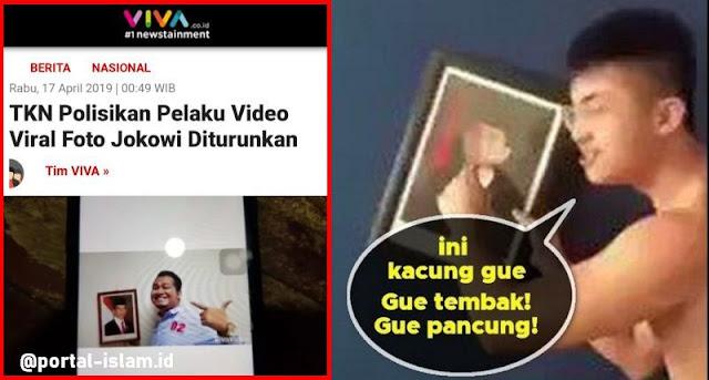 TKN Polisikan Pelaku Video Viral Foto Jokowi Diturunkan, Warganet Sindir Saat Kasus Royson Mingkem