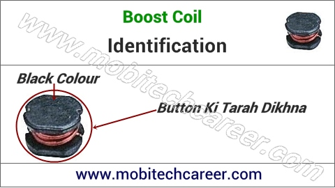 mobile phone repair me pcb circuit board motherboard per small parts - boost coil ki pahchan kaise kare | karya or khrabiya