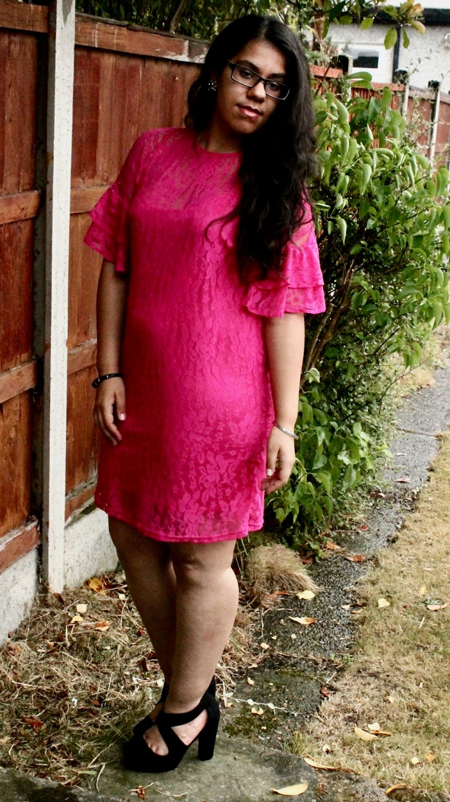 Pink Slip Dress and Lace Detailing
