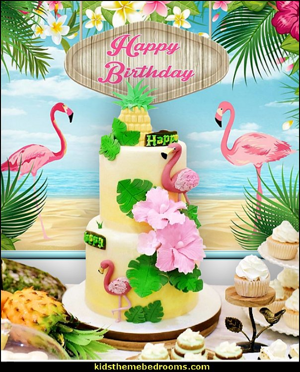flamingo photo backdrop tropical party decorations   Tropical party decorations - tropical party ideas - ALOHA Hawaii Luau Party Decorations - Luau Hawaiian Grass Table Skirt raffia Decorations - Hula Hibiscus Tropical Birthday Summer Pool Party Supplies - tiki party pineapple party decorations - beach party - Birthday party  photo backdrop - tropical themed cake decorations - beach tiki themed table decorations -  party props - summer party