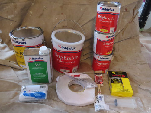 marine paint and painting supplies