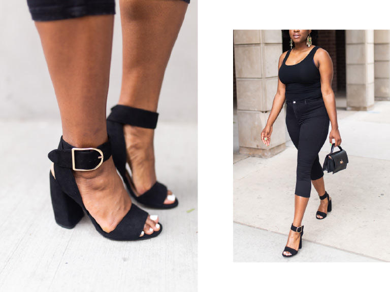 Blogger wearing ASOS Heels