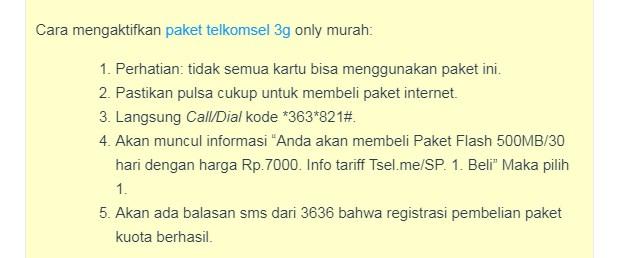 Kode Tersembunyi untuk Dapatkan Paket Internet Telkomsel Murah 3G 7 Ribu 500Mb