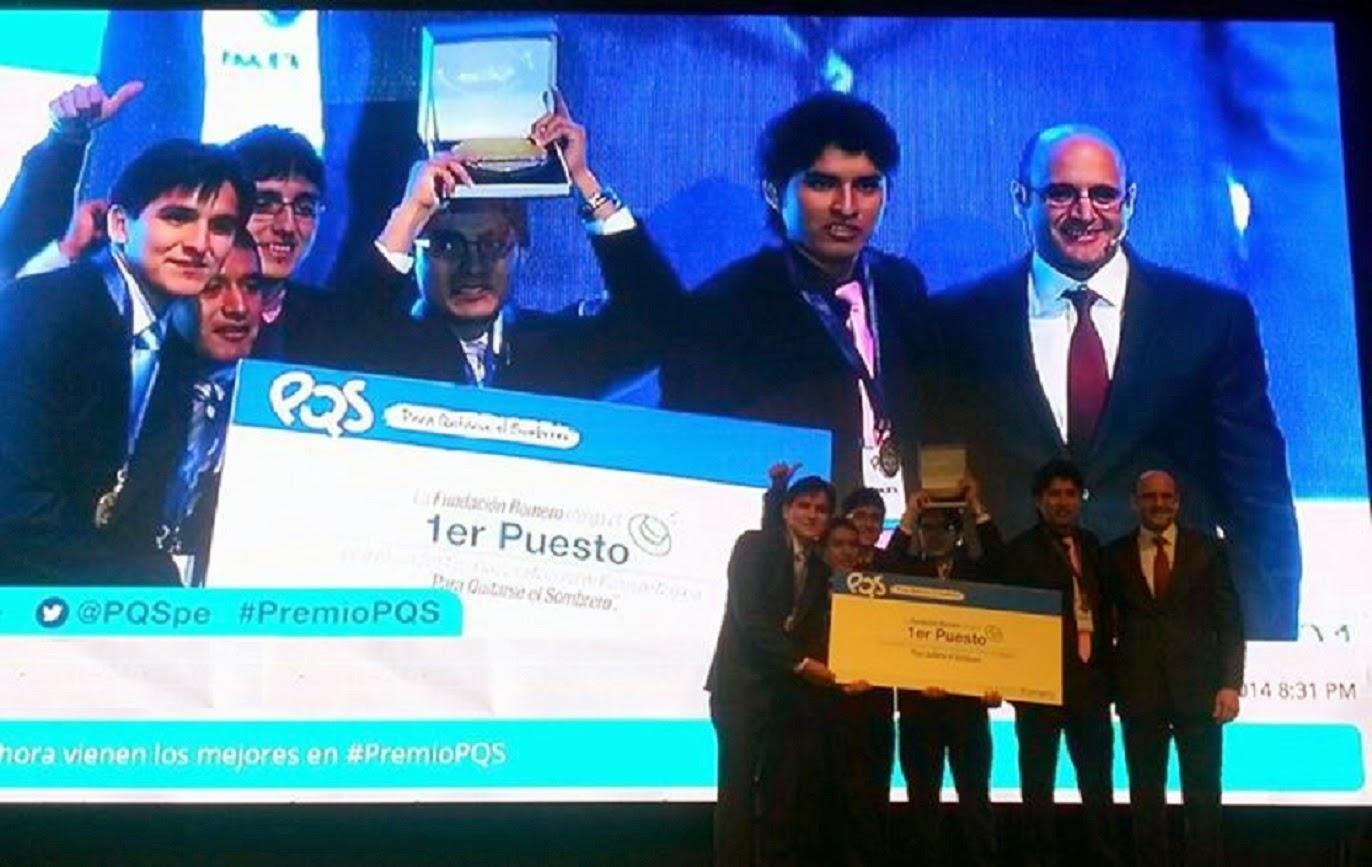 """Cinco estudiantes de Ingeniería de la UNT ganaron el Primer Puesto del concurso  de la Fundación Romero """"Para quitarse el sombrero 2014"""" con el proyecto """"  ... 5442af406c4"""