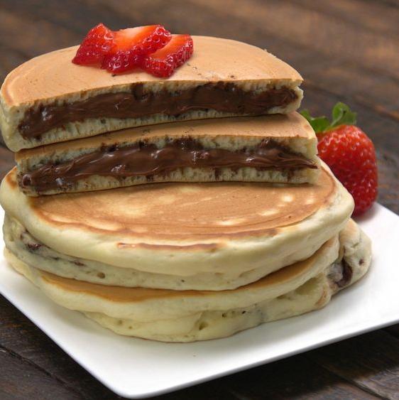 Nutella®-Stuffed Pancakes