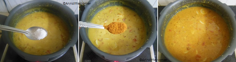 How to make Radish Sambar- Step 5