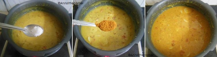 How to make Radish Sambar- Step 5