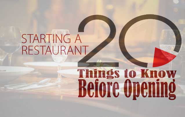 20 Things to Do Before Opening a Restaurant