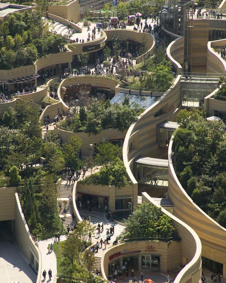 Namba Parks Landscape Gardens Osaca Japan Most Beautiful Houses The World