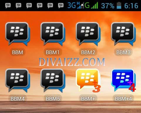 Download BBM1,BBM2,BBM3,BBM4,BBM5 Dan BBM+ Apk Dalam 1 HP Android