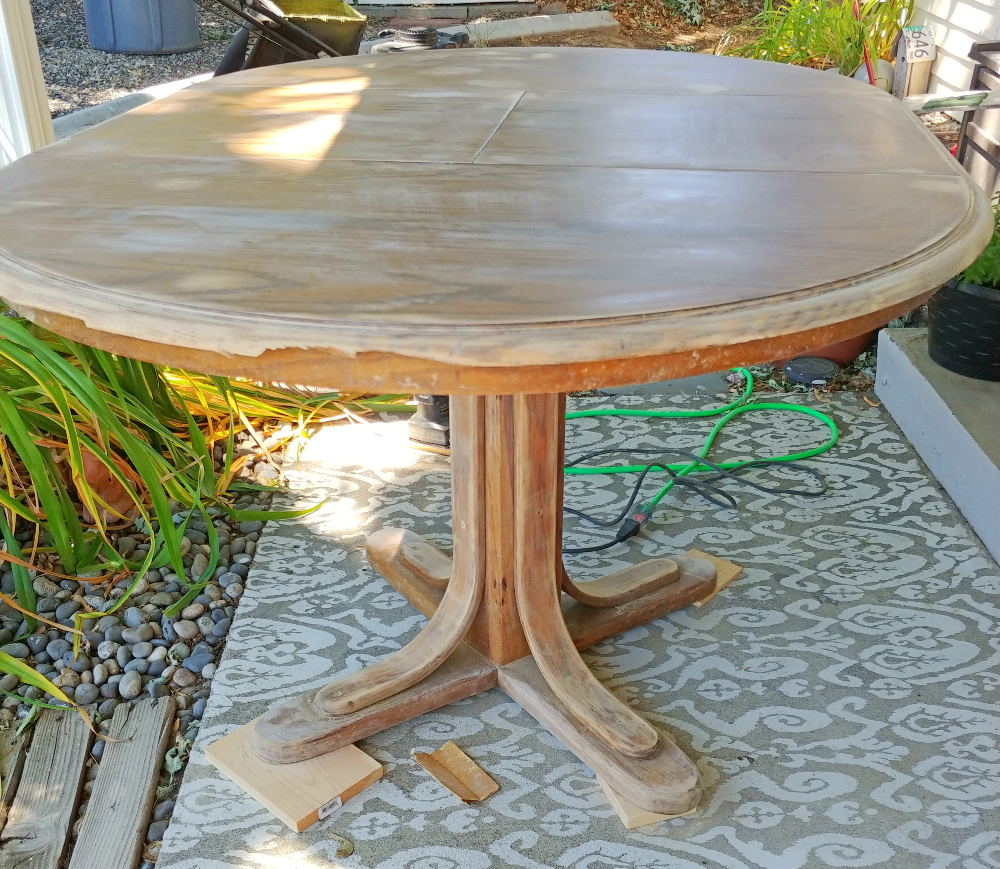 vintage dining table before