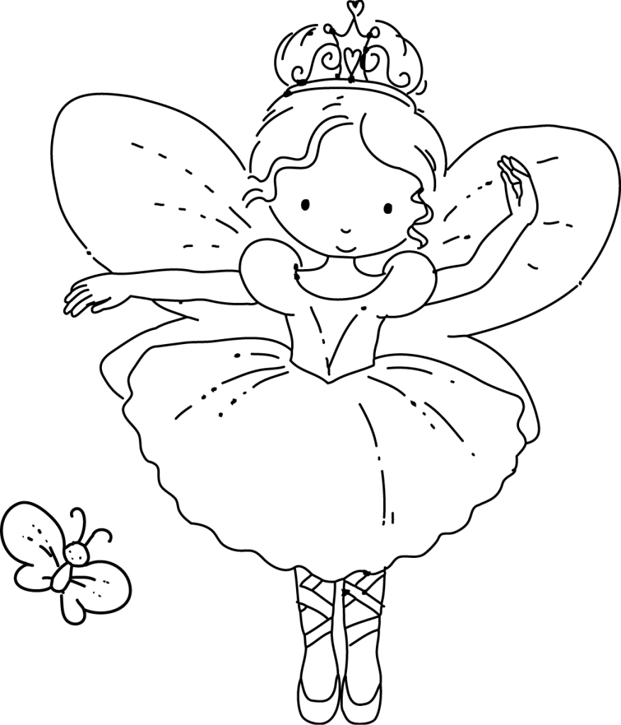 Fairy Color Page Free Coloring Pages Download | Xsibe beautiful ...