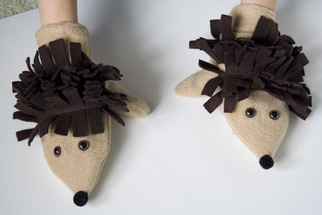 printable hedgehog puppets sew can do hedgehog critter mittens free pattern tutorial 2770