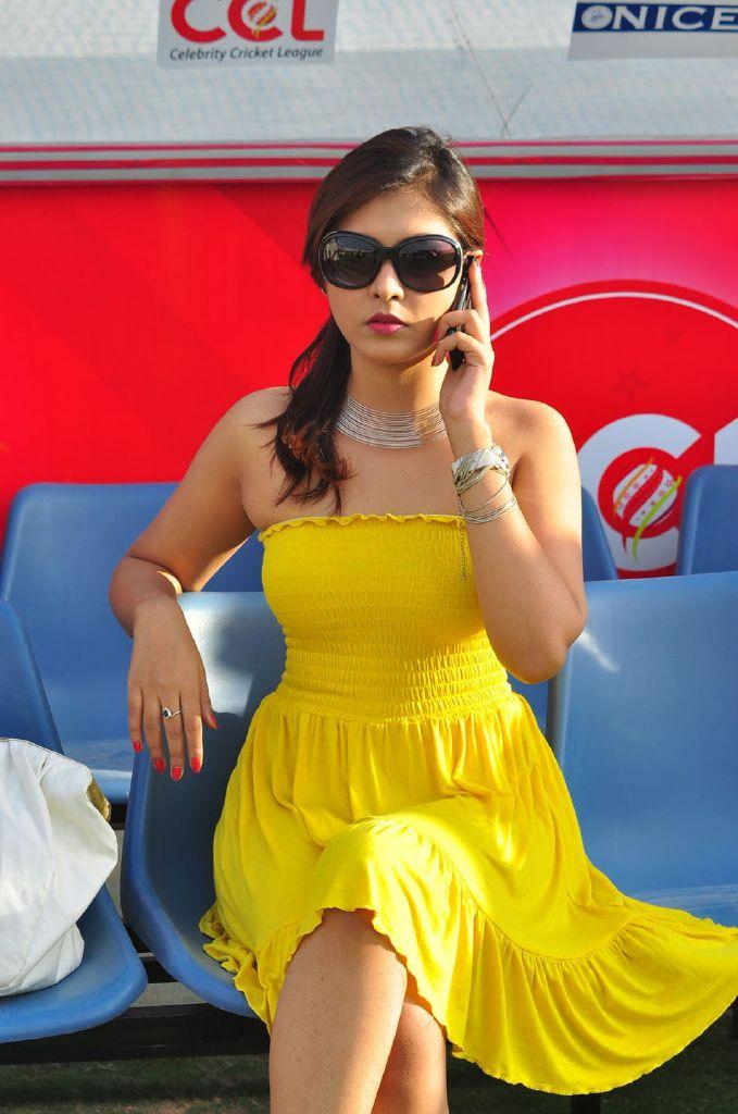 Madhu Shalini Telugu Actress @ CCL Final Match Photos