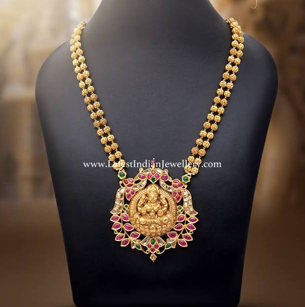 Gold Balls Laxmi Pendant