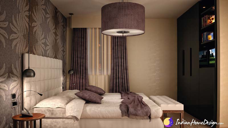 Small and compact stylish bedroom interior design ideas by Bala Padma