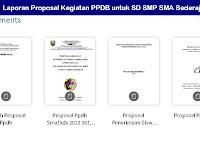 Laporan Proposal Kegiatan PPDB untuk SD SMP SMA Sederajat