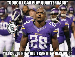 """""""coach I can play quarterback"""" """"if I could hit a kid, I can hit a receiver"""""""