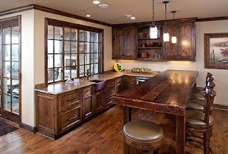 diseño de cocina con madera