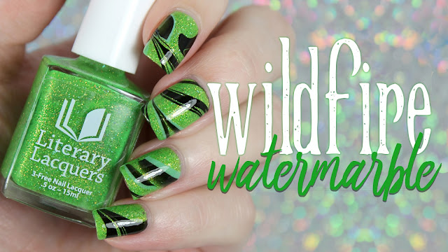 Literary Lacquers | Wildfire Watermarble