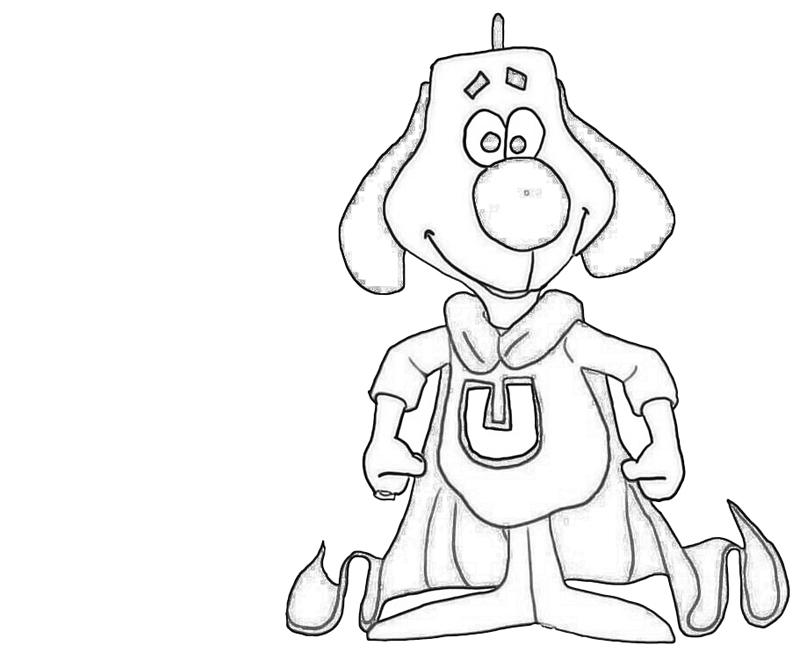 Underdog superhero coloring pages