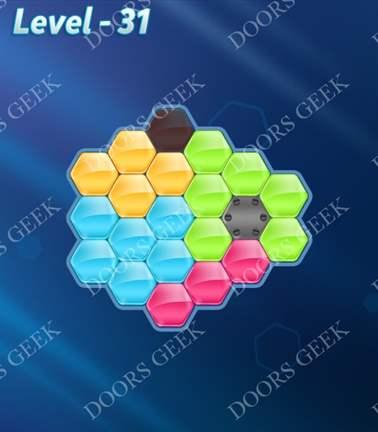 Block! Hexa Puzzle [5 Mania] Level 31 Solution, Cheats, Walkthrough for android, iphone, ipad, ipod