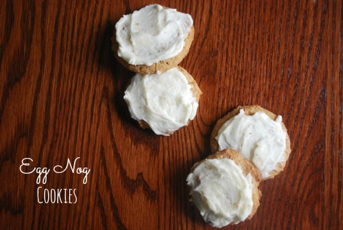 Egg Nog Cookies with Spiced Rum Frosting - The Gingered Whisk