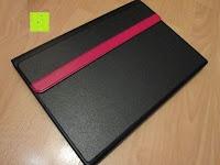 Case vorne: Sharon Galaxy NotePRO 12.2 Hülle mit magnetisch befestigter Bluetooth Tastatur und integriertem Touchpad | Ultraslim Schutzhülle | deutsches Layout | Tastatur herausnehmbar
