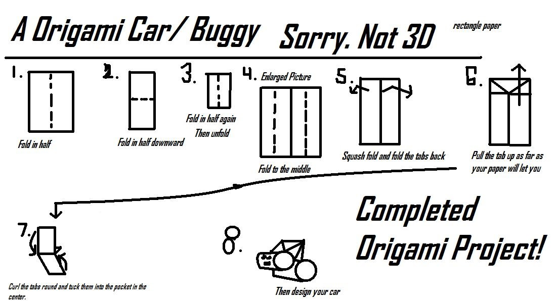 extremegami how to make a origami car made up by the creator of extremegami. Black Bedroom Furniture Sets. Home Design Ideas