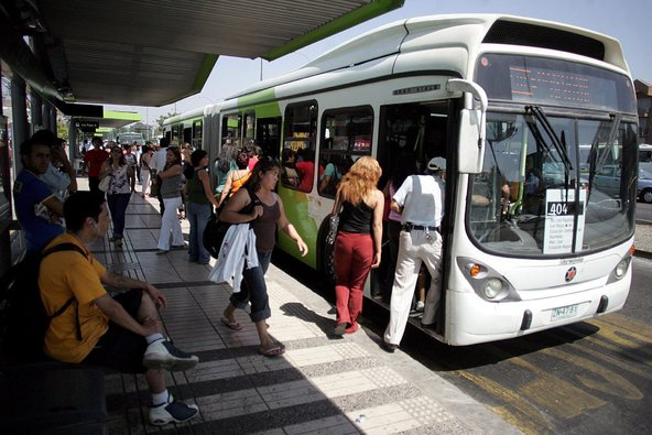 Como andar de ônibus em Santiago do Chile