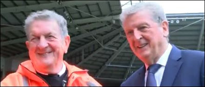 Roy Hodgson Meets Lookalike From Swansea