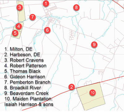 Key places of interest around the Broadkill in Sussex Co DE