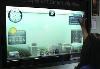 okos télikert okosüvegből készült ablakkal építve